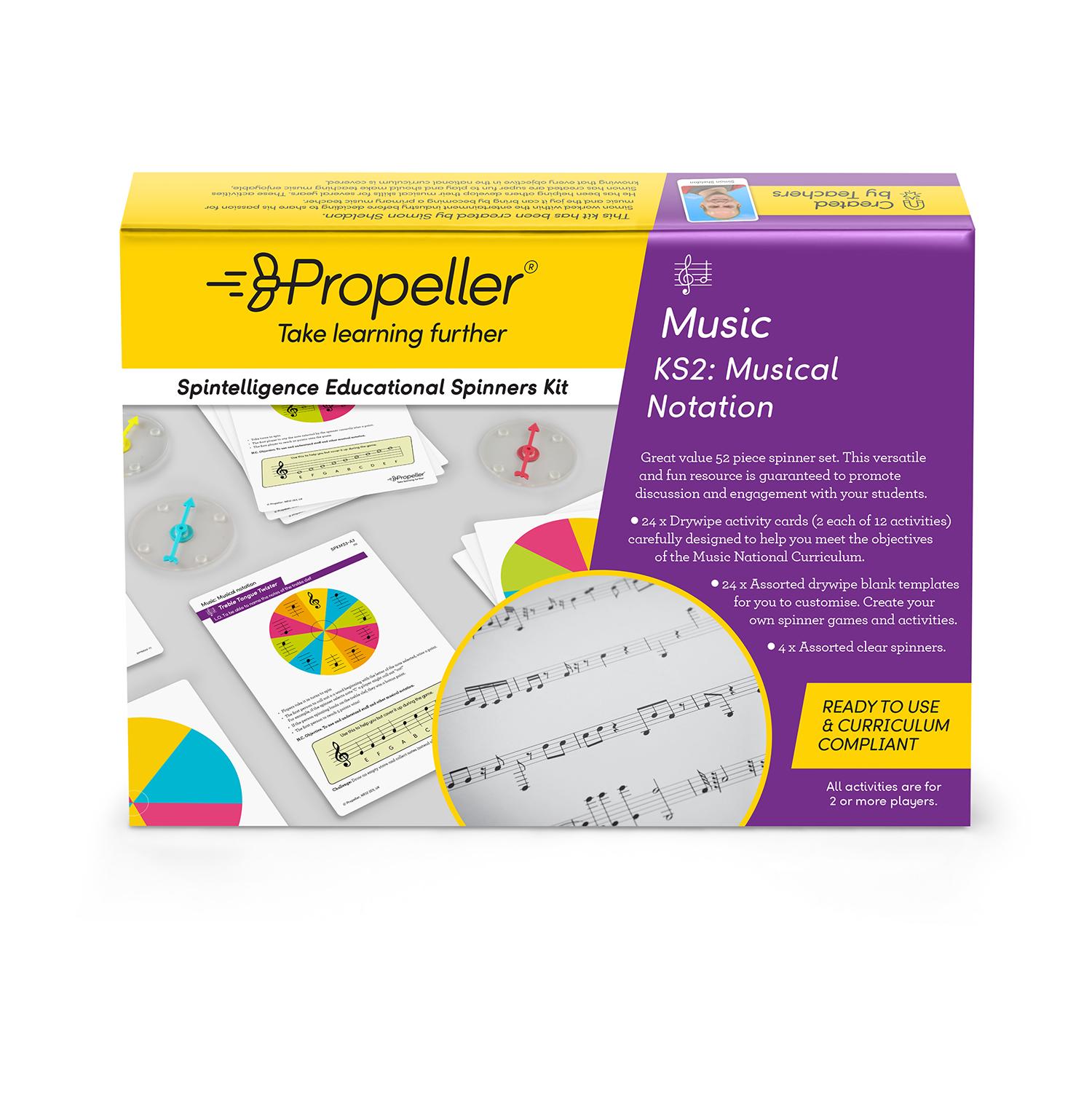 KS2 Musical Notation Spinner Kit - Propeller Education